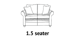 Curved Arm 1-5 Seater