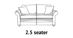 Curved Arm 2-5 Seater