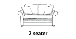 Curved Arm 2 Seater